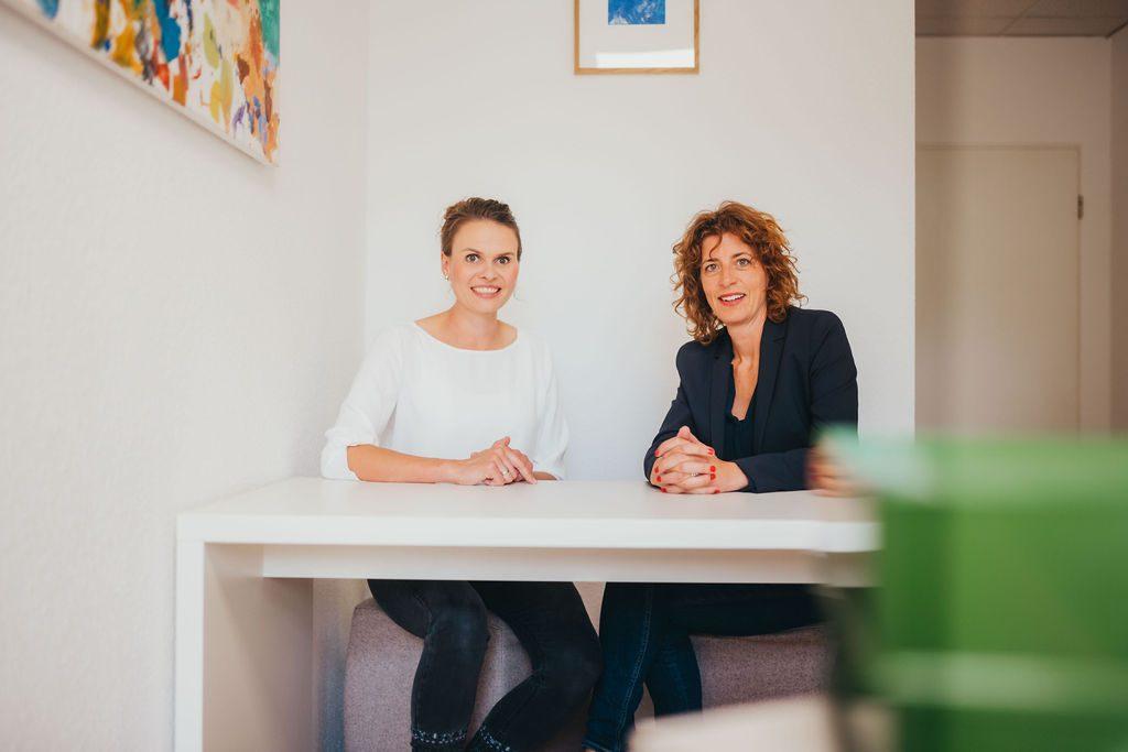 Carola Scheffold und Alexandra Warschun